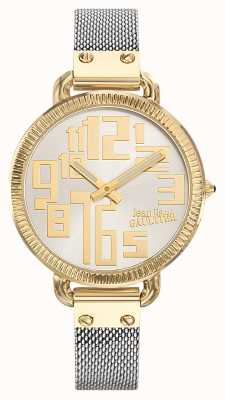 Jean Paul Gaultier Womens Index Two Tone Mesh Silver Dial JP8504310