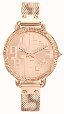 Jean Paul Gaultier Womens Index Rose Gold PVD Mesh Rose Gold Dial JP8504308