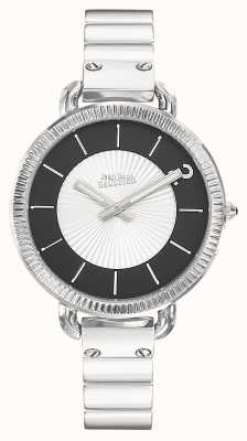 Jean Paul Gaultier Womens Index Stainless Steel Bracelet Silver Dial JP8504301