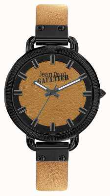 Jean Paul Gaultier Mens Index Brown Leather Strap Brown Dial JP8504409