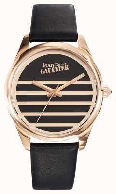 Jean Paul Gaultier Navy Black Leather Strap Black Dial JP8502410