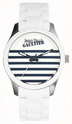 Jean Paul Gaultier Enfants Terribles White Rubber Steel Bracelet White Dial JP8501120