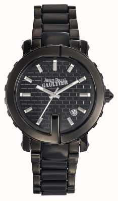Jean Paul Gaultier Womens Point G Black Stainless Steel Bracelet Black Dial JP8500514