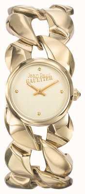 Jean Paul Gaultier Womens Maxi Chaine Gold PVD Bracelet Gold Dial JP8504602