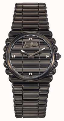 Jean Paul Gaultier Womens Bord Cote Black PVD Bracelet Black Dial JP8504103