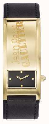 Jean Paul Gaultier Identite Black Leather Strap Black Dial JP8503702