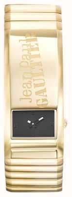 Jean Paul Gaultier Identite Gold PVD Bracelet Black Dial JP8503705