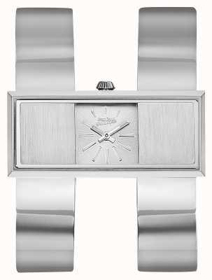 Jean Paul Gaultier Womens Double Jeu Stainless Steel Bracelet Silver Dial JP8505005