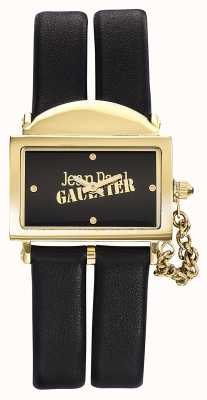 Jean Paul Gaultier Womens 325 Black Leather Strap Black Dial JP8501608