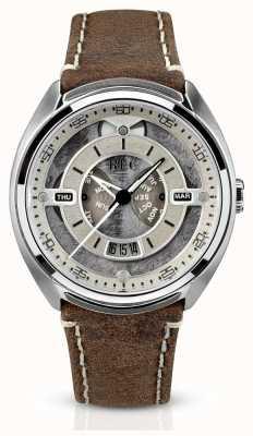 REC Porsche Automatic Brown Leather Strap White Dial 901-02