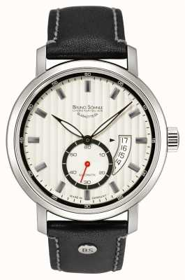 Bruno Sohnle Pesaro II Automatic 44mm Black Leather Watch 17-12150-267