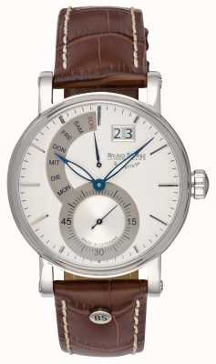 Bruno Sohnle Pesaro II 43mm Brown Leather Watch 17-13073-283