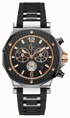 Gc 3 Mens Special Chronograph Silver Black Round Watch X72036G2S