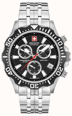 Swiss Military Hanowa Mens Patrol Chronograph Matt Black Dial 06-5305.04.007