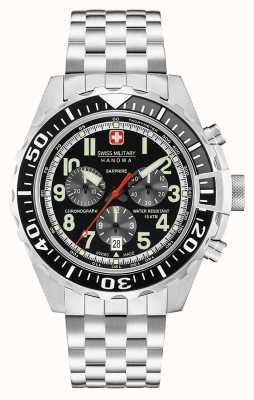 Swiss Military Hanowa Mens Touchdown Chronograph Black 06-5304.04.007