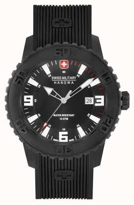 Swiss Military Hanowa Mens Twilight II Black Silicone Watch 06-4302.27.007