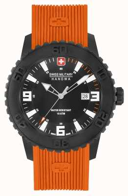 Swiss Military Hanowa Mens Twilight II Orange Silicone Watch 06-4302.27.007.79