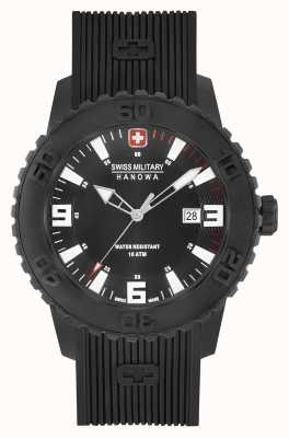 Swiss Military Hanowa Mens Twilight II Black Silicone Watch 06-4302.27.007.04