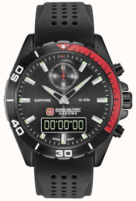 Swiss Military Hanowa Mens Multimission Black Dial Black Silicone 06-4298.3.13.007