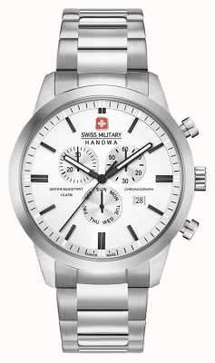 Swiss Military Hanowa Mens Chrono Classic Stainless Steel Dial 06-5308.04-001