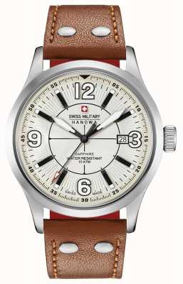 Swiss Military Hanowa Mens Undercover Beige Dial Tan Leather Strap 06-4280.04.002.02.1