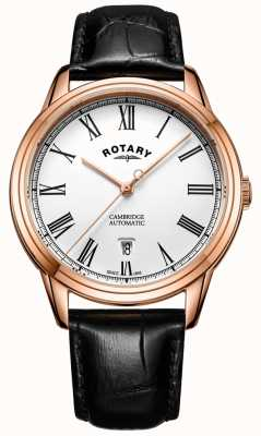 Rotary Mens Cambridge Rose Gold Automatic GS05252/01