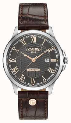Roamer Mens Windsor Brown Leather Strap 706856410207