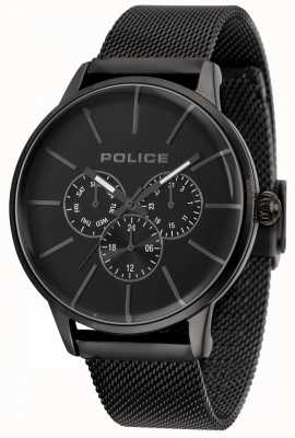Police Mens Swift Black Mesh Bracelet Black Dial 14999JSB/02MM