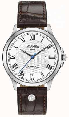 Roamer Mens Windsor Brown Leather Strap 706856411207