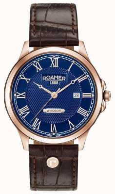 Roamer Mens Windsor Brown Leather Strap 706856494207