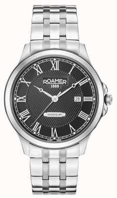 Roamer Mens Windsor Black Dial Stainless Steel Bracelet 706856415270