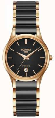 Roamer Womens C-Line Black Ceramic Watch Rose Gold Case 657844495560