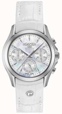 Roamer Womens Searock Chronograph White Leather Strap 203901411002