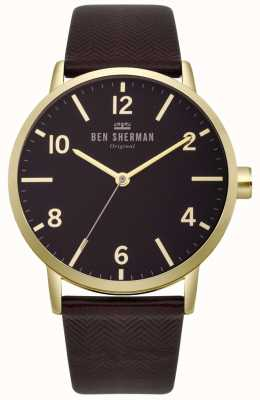 Ben Sherman Mens Biig Portobello Herringbone Watch WB070RB