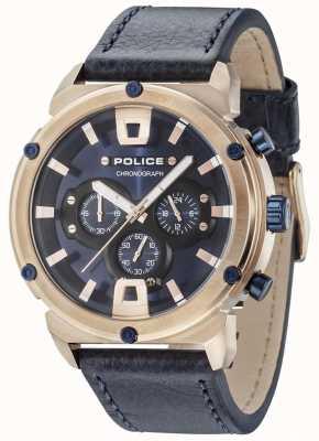Police Armor II Rose Gold Case Dark Blue Dial Dark Blue Strap 15047JSR/03
