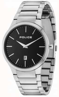 Police Horizon Silver Bracelet Black Dial 15246JS/02M