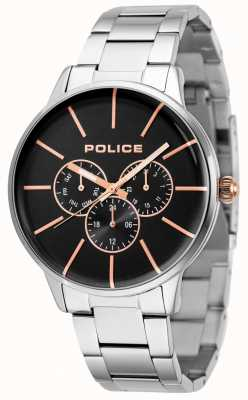 Police Swift Stainless Steel Bracelet With Black Dial 14999JS/02M