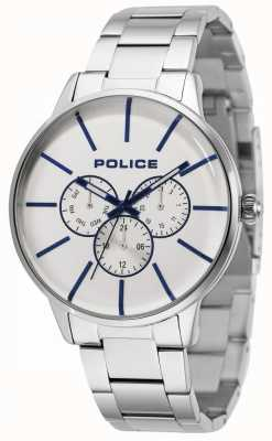 Police Swift Stainless Steel Bracelet With Silver Dial 14999JS/04M