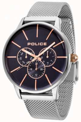 Police Swift Rose Gold Mesh Bracelet With Black Dial 14999JS/03MM