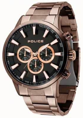 Police Momentum Brown Bracelet With Black Dial 15000JSBN/02M