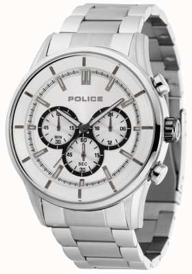 Police Rush Stainless Steel Bracelet With Silver Dial 15001JS/04M