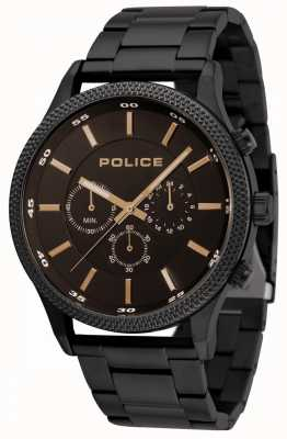 Police Pace Black Bracelet With Black Dial 15002JSB/02M