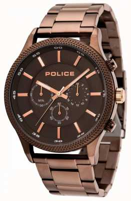 Police Pace Brown Bracelet With Grey Dial 15002JSBN/13M