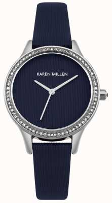 Karen Millen Navy Blue Leather Textured Dial KM165U