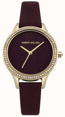 Karen Millen Mulberry Leather Textured Dial KM165VG