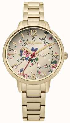 Cath Kidston Gold Bracelet Floral Print Dial CKL038GM