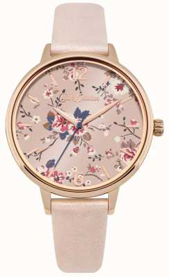 Cath Kidston Pink Pearlised PU Strap Pink Floral Dial CKL038CRG