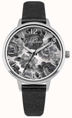 Cath Kidston Black Pearlised PU Strap With Black Dial CKL038BS
