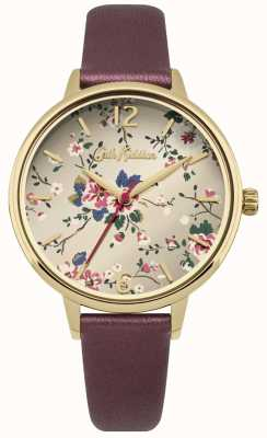 Cath Kidston Deep Red Metallic Strap Gold CKL038RG