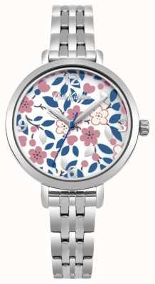 Cath Kidston Silver Bracelet Flower Print Dial CKL037SM